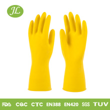 Unlined sprayed dipped flock cotton latex household rubber gloves for cleaning washing garden home