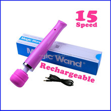 Heavenly Pleasure 15 Functions Wand Vibrator Medical Sillicone Sex Toys