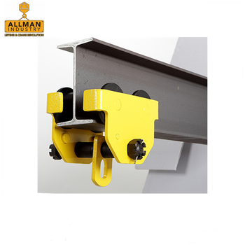 ALLMAN 2017 best selling Hand Push Trolley for manual chain hoist suspension
