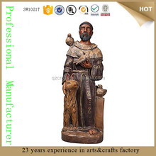 resin St. Francis Of Assisi wholesale reproduction antiques statue reproduction sculpture