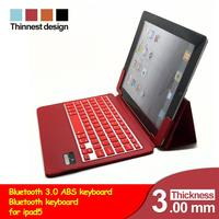 Wireless Bluetooth Silicone QWERTY Keyboard Case Cover Stand for Apple iPad Air iPad 5 Tablet Leather Case Bleutooth Kyeboard