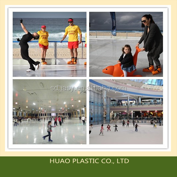 High density hdpe plastic/polyethylene synthetic ice rink /ice skating rink