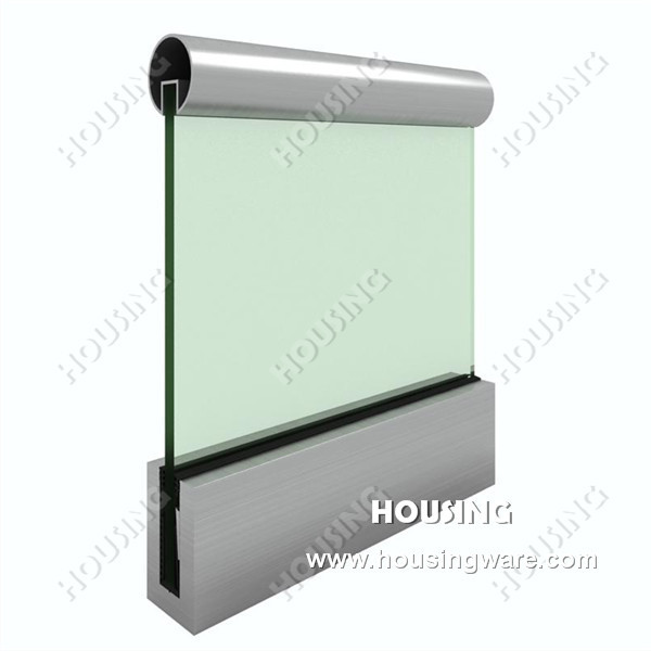 Skillful Manufacture Glass Railing With U Channel Simple