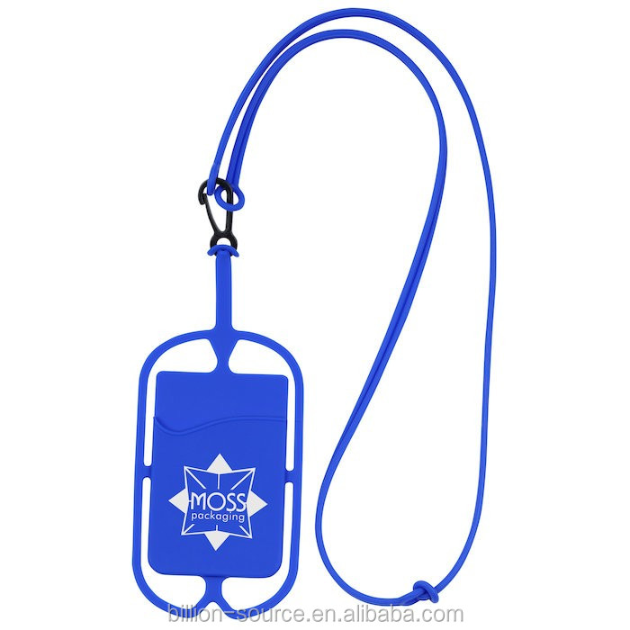 2017 silicone lanyard mobile phone case with logo printing