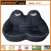 canvas farbric material and two seat promotional bean bag sofa