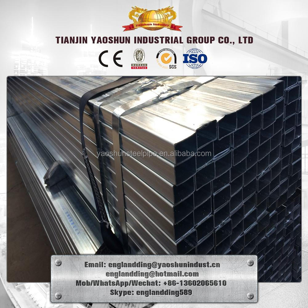 Z40/Z80/Z200/ Z250 thick wall hot dip/pre galvanized square pipe/ thick zinc coating pre galvanized square steel tube