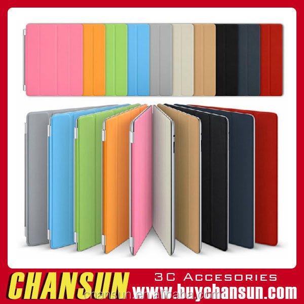 Ultral-thin smart Cover for ipad 2/2/3/4, Smart Cover magnetic Sleep/Wake function Shell with stand smart cover