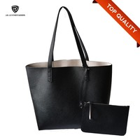 Casual Shoulder Bags New PU Pattern Tote Handbags with Cute Purse