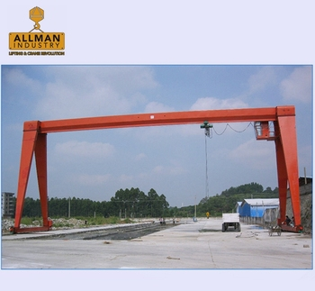 workshop use mobile cranes electric traveling single girder gantry crane