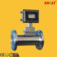 KHLWQ Gas 4-20mA output Turbine Flow Meter with square header
