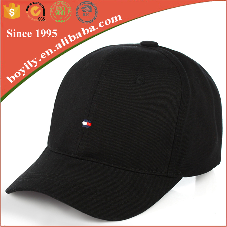 custom long visor peaks black blank baseball cap