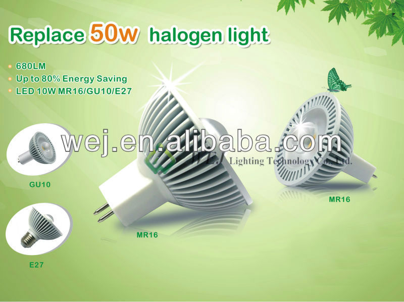 High CRI>80 led mr16 led spot light 9w 1000lm