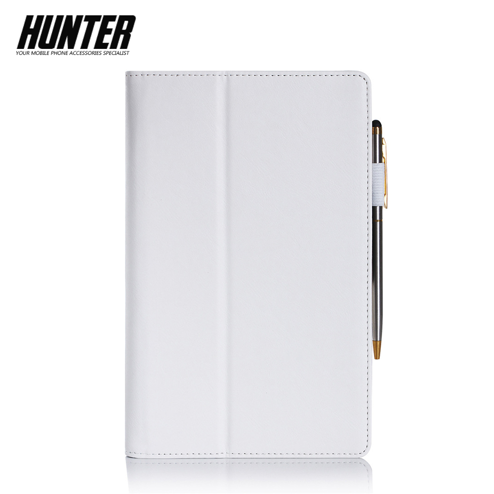 White PU Leather Wallet Case For 8 Inch Tablet