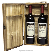 Metallic Lock Special Paper Wine Packing Box With Handle