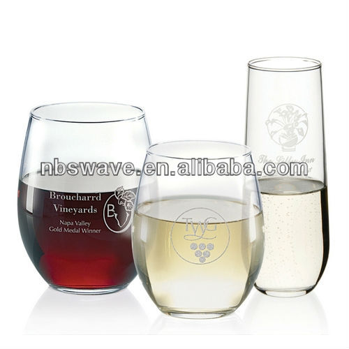 Smooth Stemless Crystal Red Wine Glass 21oz 35003