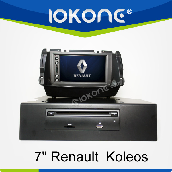 "factory 7"" HD Touch screen renault koleos radio with TMC, camera, mic, dvb-t"