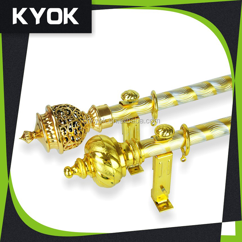 KYOK home decoration accessories cheap price curtain rod plastic finials