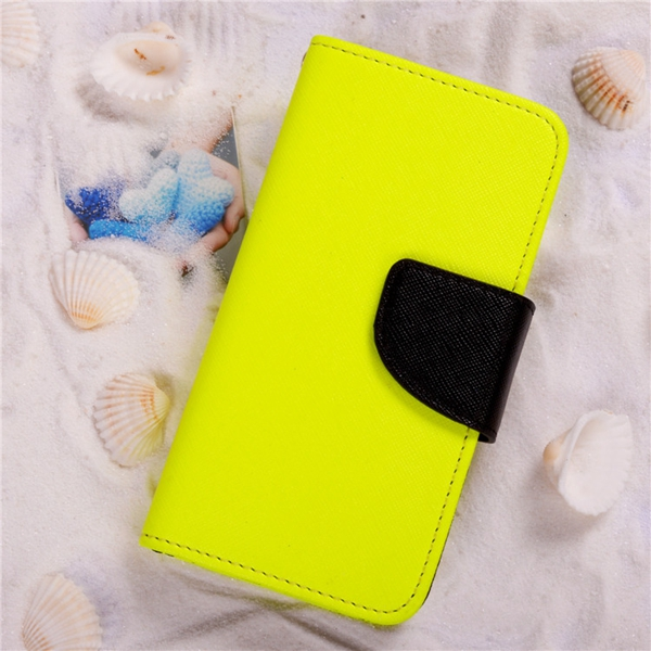 High quality simple design double color pu leather stand phone case cover for iphone6 with fast shipping