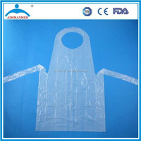 HDPE / LDPE disposable plastic aprons pink