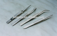 Stainless Steel Forceps (4pcs/set)/FC100/Stainless steel/strong tips,flat and wide tips,curved tips,Fine, permanent sharp