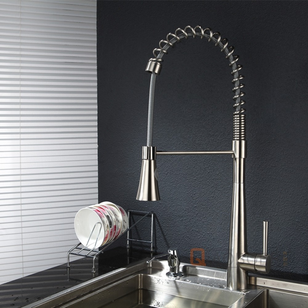 Hot sale chrome deck mounted brushed nickle mixer with swivel spout