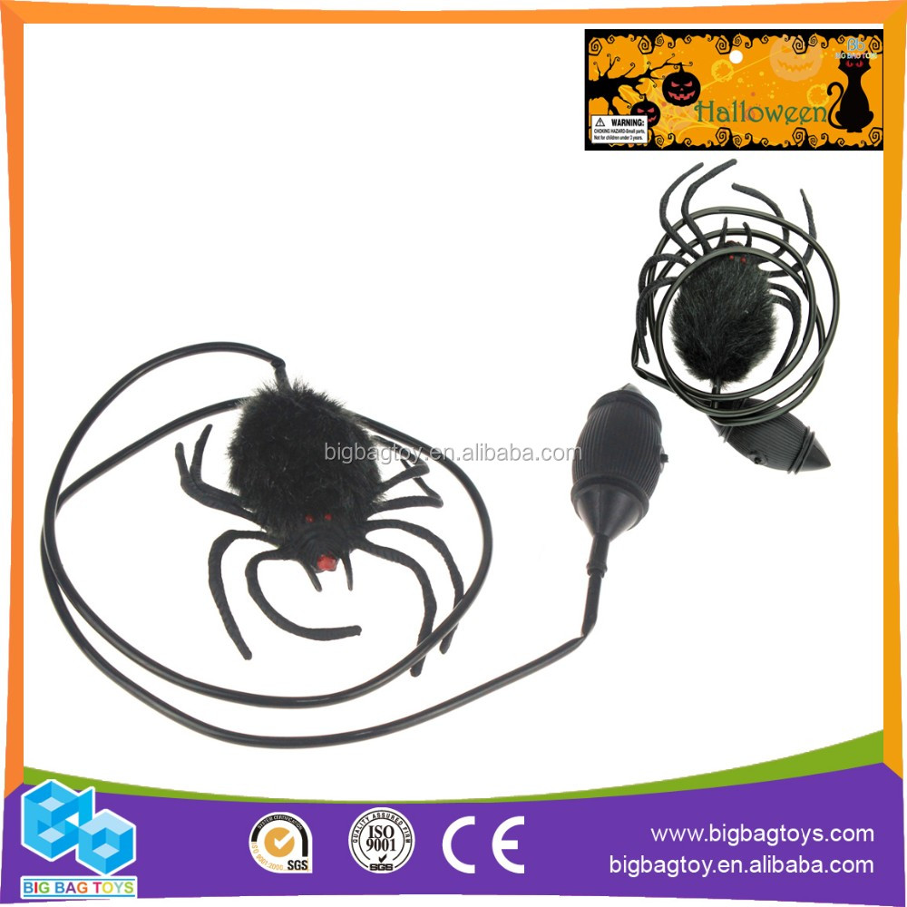 Hot Sale black halloween jumping spider toy(1pcs) for kids