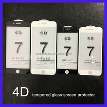 Big discount 100% 4D full covered Anti Scratch tempered glass screen protector for iphone7