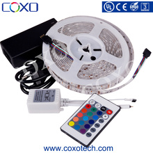 14.4w/m 24V SMD 5050 Color Changing RGB / RGBW / RGBWW Led Light Strip Kit with Controller
