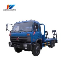 China 6*4 dimensions diesel engine flatbed truck for sale