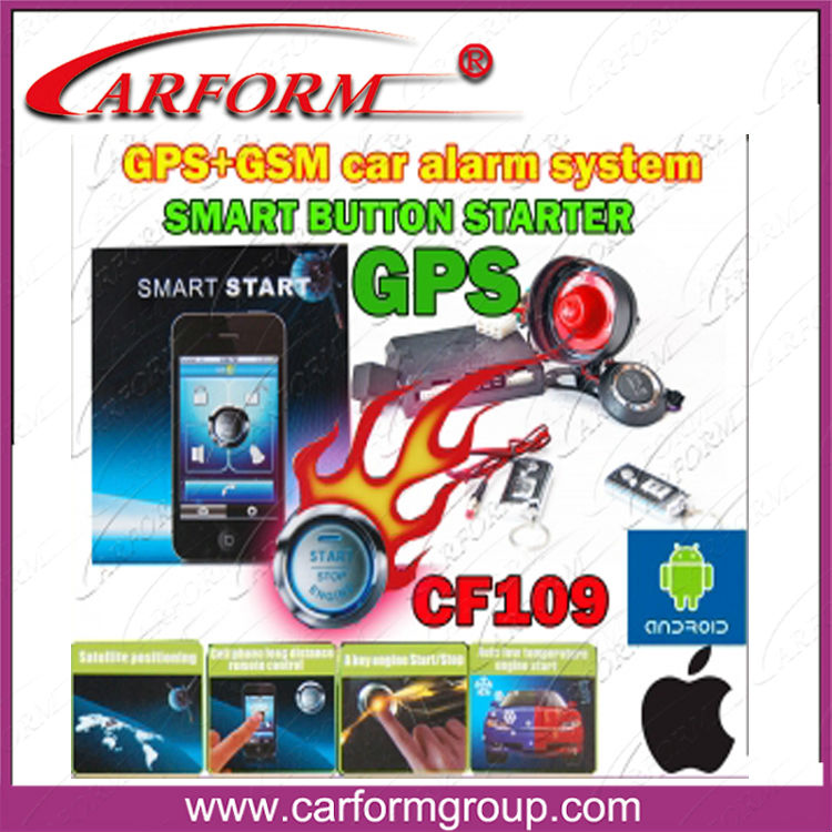 long distance car alarm gps gsm with smart start stop button