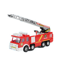 1:12 Firetruck with 360 degre telescopic and rotatable ladder kids electric 24cm long can spray water fire truck toy