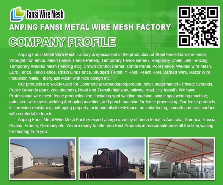 Galvanized Farm Grassland Cattle Fence Field Fencing Panel