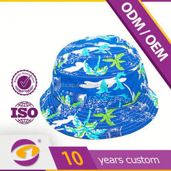Top Class Wide Brim 5 Panel Free Pattern Children Bucket Hat With Chin Cord