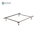 USA Poplar T/F/Q Adjustable Metal Bed Frame with Central Support and 4 Castors