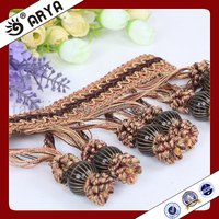elegant and fancy black flower cluster fringe for home textile decoration