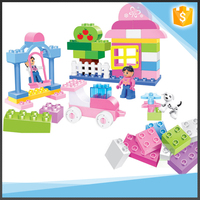 60PCS Educational Block Toys Little Girl's Plastic Building Blocks Set