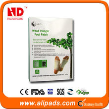 2014 new product wood vinegar detox foot patch with high quailty, offer OEM service