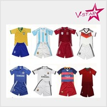 kids qulity soccer set jersey sets wholesale kids club jersey