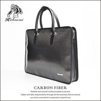 High-grade carbon fiber TPU men's bag briefcase file bag envelope purse handbags briefcases for man