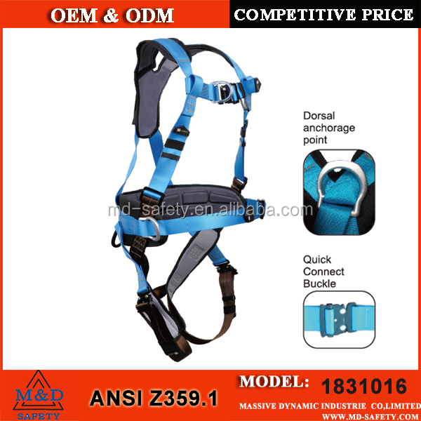 ANSI certified safety belt full body harness
