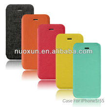 new cell phone accessoris for iphone5 flip leather case for iphone 5/iphone 5S