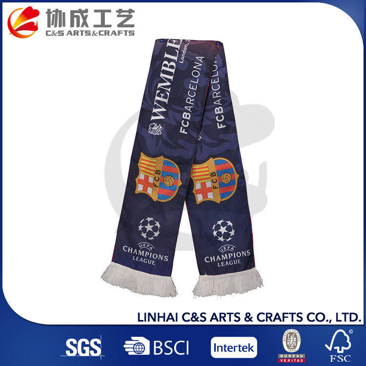 Promotions Sports Events Printed Football Fan Scarf