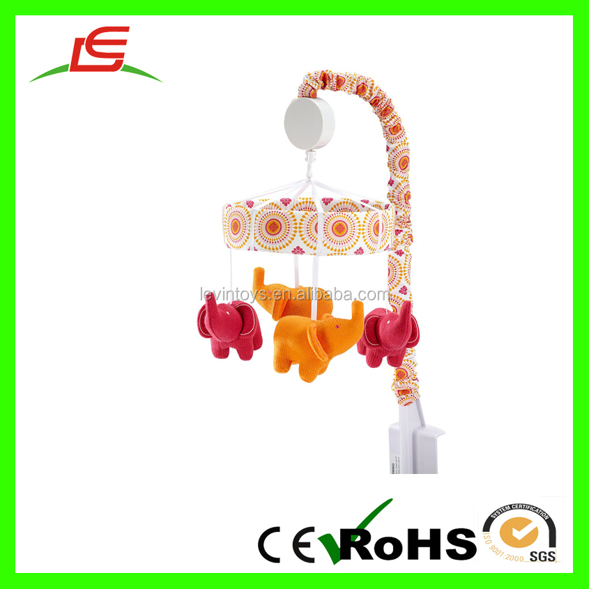 New Style Red Yellow Plush Elephent Baby Mobiles Toy