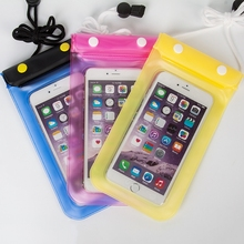 PVC waterproof Case Mobile Phone Waterproof Bag for iphone 5 / 6 / 6s Plus for Samsung S7 / Note 5 Smartphone