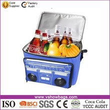 Outdoor Travelling 600D Polyester Waterproof Picnic Cooler Bag with Bluetooth Speaker