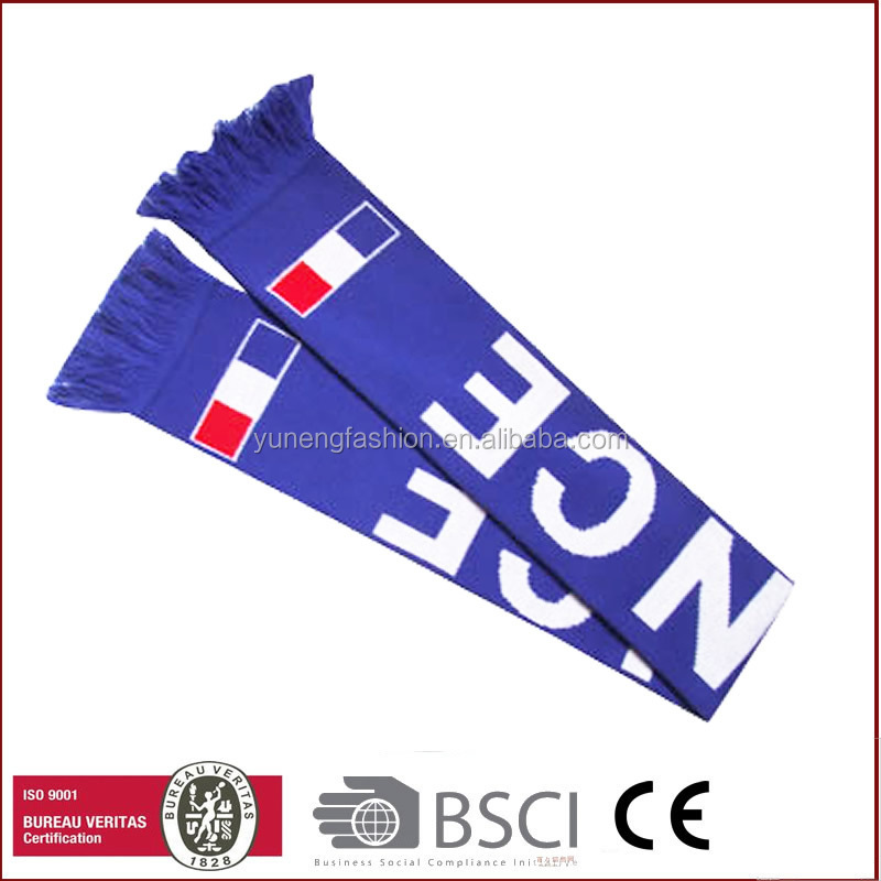 World Cup Traditionary Techology Knitted Gift Sport Scarf Soccer Scarf