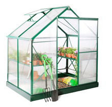 6ft x 4ft Deluxe hobby polycarbonate Aluminium profile for Greenhouse
