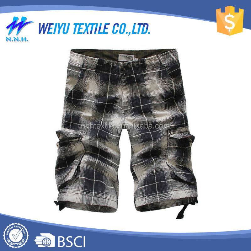 Casual tartan shaped no problem cheap shorts for men