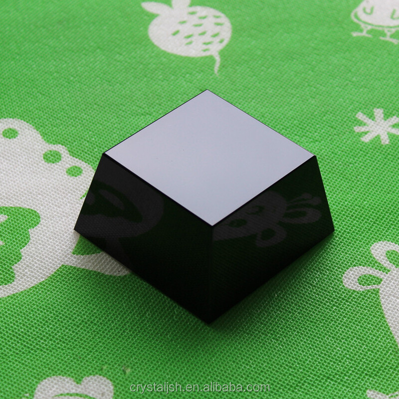 blank crystal block cubes glass paperweight