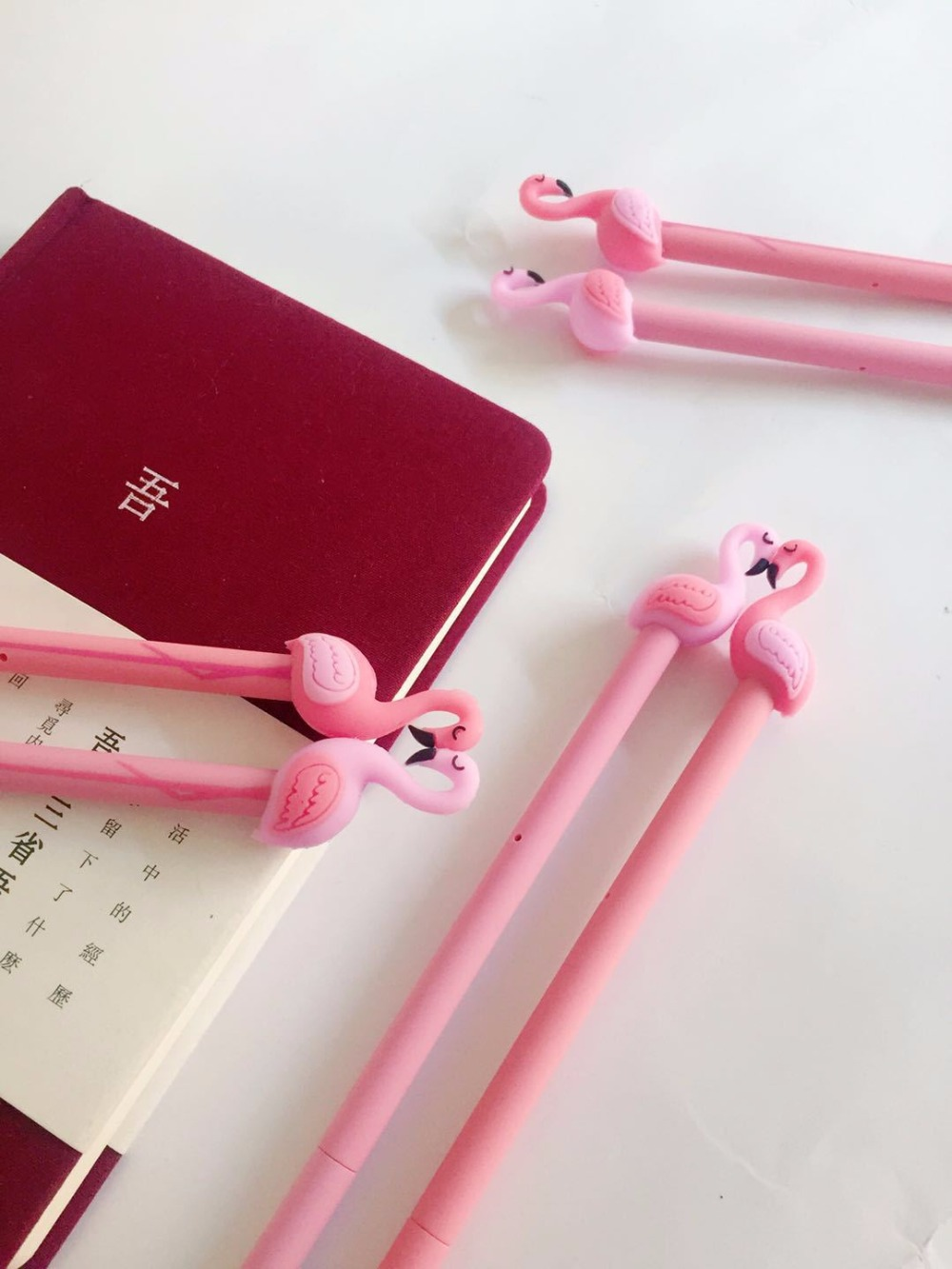 4 pcs/lot 0.5 mm Lucky Pink Flamingo Gel Pen Promotional Gift ...